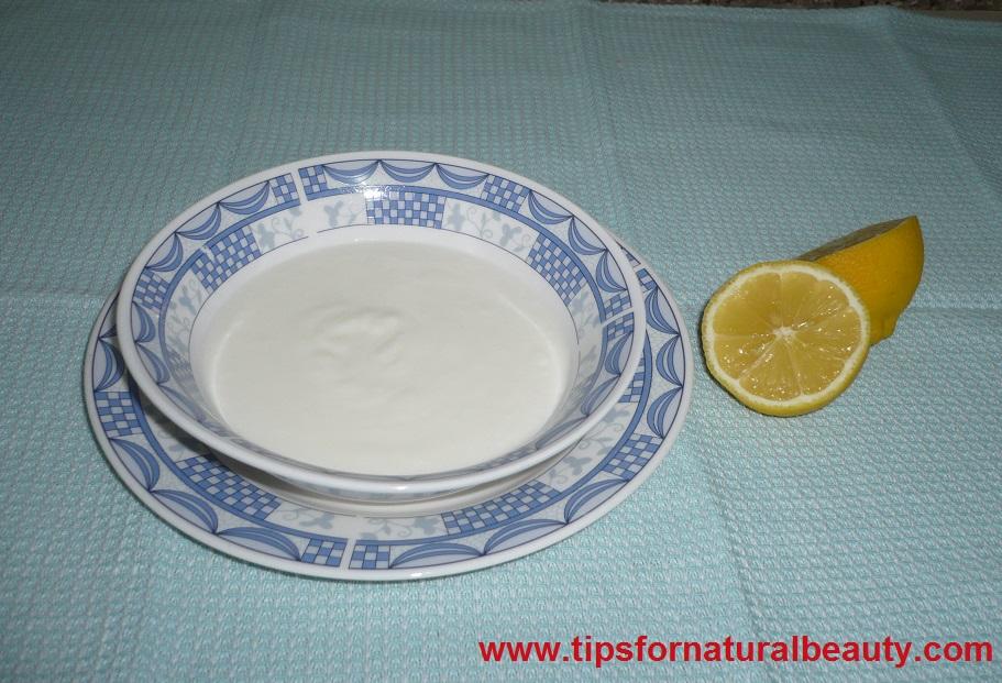 Lemon and yogurt facial mask recipe