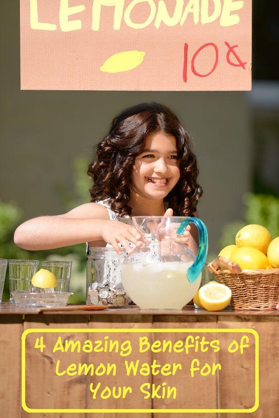 Lemon water benefits for skin